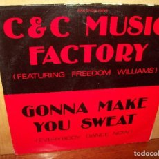 Discos de vinilo: C&C MUSIC FACTORY - GONNA MAKE YOU SWEAT - MAXI SINGLE . Lote 140300726