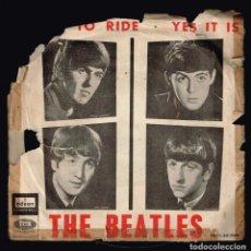 Discos de vinilo: THE BEATLES. TICKET TO RIDE DSOE 66.064 ODEON 1965 DISCO. Lote 140305042