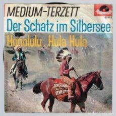 Discos de vinilo: MEDIUM-TERZETT. DER SCHATZ IM SILBERSEE 52 012 POLYDOR DISCO. Lote 140306506