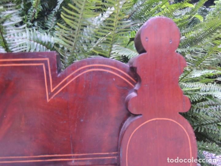 Antigüedades: CABECERA DE CAMA ANTIGUA DE MADERA MODERNISTA - Foto 4 - 140307906