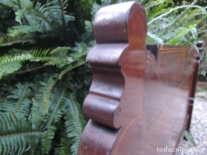 Antigüedades: CABECERA DE CAMA ANTIGUA DE MADERA MODERNISTA - Foto 11 - 140307906