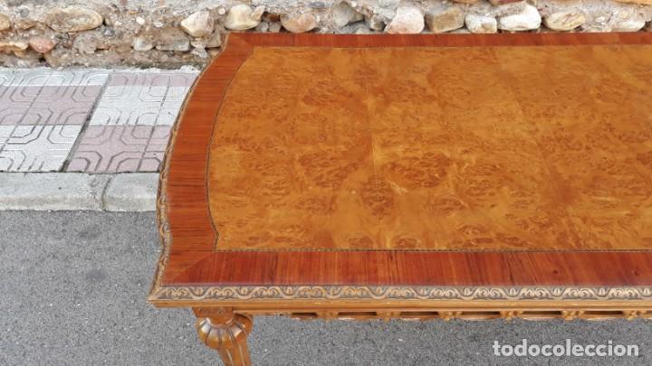 Antigüedades: Mesa antigua de salón extensible estilo Luis XVI. Mesa grande antigua de salón comedor palo rosa. - Foto 9 - 140315874