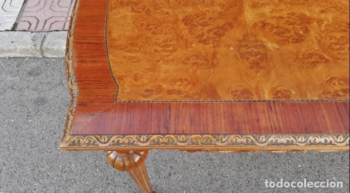 Antigüedades: Mesa antigua de salón extensible estilo Luis XVI. Mesa grande antigua de salón comedor palo rosa. - Foto 10 - 140315874