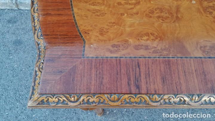 Antigüedades: Mesa antigua de salón extensible estilo Luis XVI. Mesa grande antigua de salón comedor palo rosa. - Foto 11 - 140315874