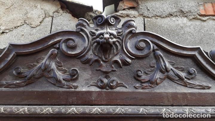 Antigüedades: Mueble salón aparador antiguo estilo Luis XIII. Bufet estantería librero estilo rústico renacimiento - Foto 7 - 140316830