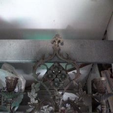 Antigüedades: CANDELABRO DE PARED O DE COLGAR TIPO APLIQUE CON LABRADO. Lote 140324382