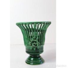 Antigüedades: ANTIGUO JARRÓN FLORERO ROSAS FLORES. Lote 140325350