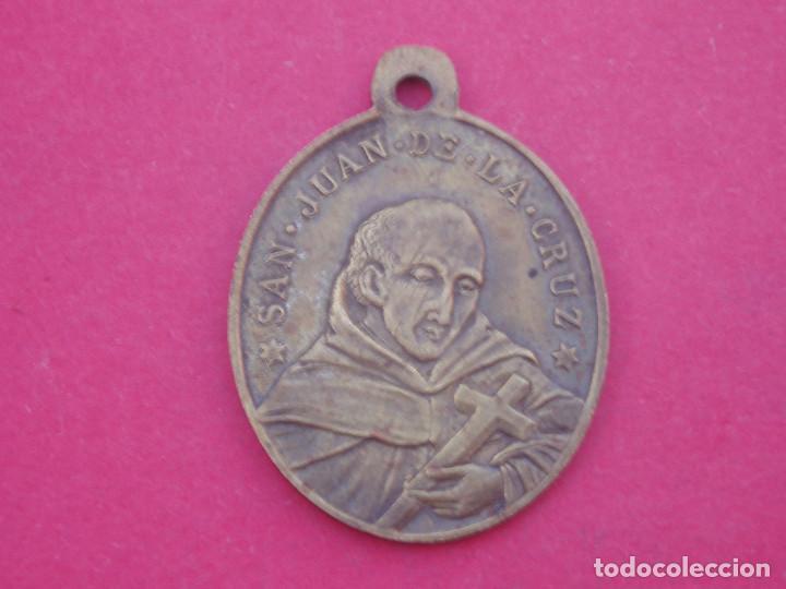 MEDALLA SIGLO XIX SAN JUAN DE LA CRUZ. SANTO DESIERTO DE LAS PALMAS. CASTELLÓN. AÑO 1892 (Antigüedades - Religiosas - Medallas Antiguas)