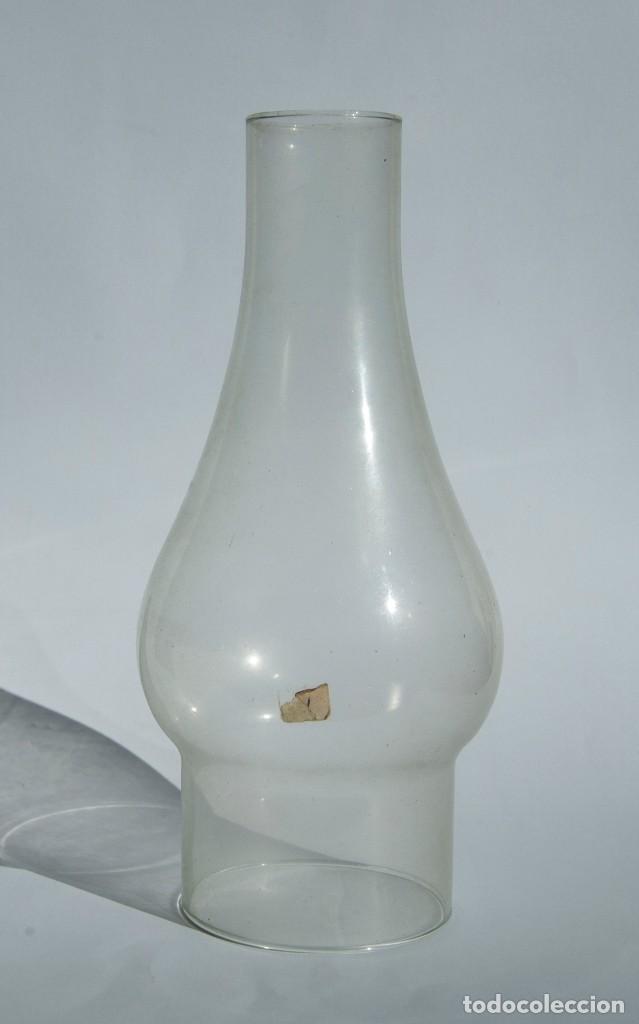 V280.- TULIPA DE QUINQUÉ ORIGINAL. PRINCIPIOS SIGLO XX (Antigüedades - Cristal y Vidrio - Otros)