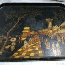Antigüedades: BANDEJA DE CHAPA. Lote 140349880