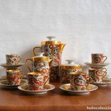 Antigüedades: JUEGO DE CAFÉ LIMOGES * 8 TAZAS + 8 PLATOS + CAFETERA + LECHERA + AZUCARERO * . Lote 140371706