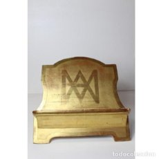 Antigüedades: ANTIGUO ATRIL PAN DE ORO JUAN ROSSY. Lote 140398402