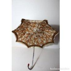 Antigüedades: ANTIGUO PARASOL SOMBRILLA PARAGUAS MUJER RETRO VINTAGE. Lote 140400514