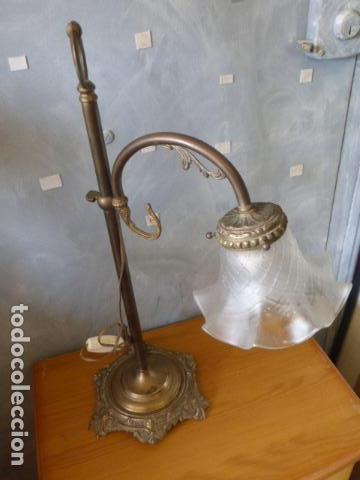 ANTIGUA LAMPARA DE SOBRE MESA ART DECO. (Antigüedades - Iluminación - Lámparas Antiguas)