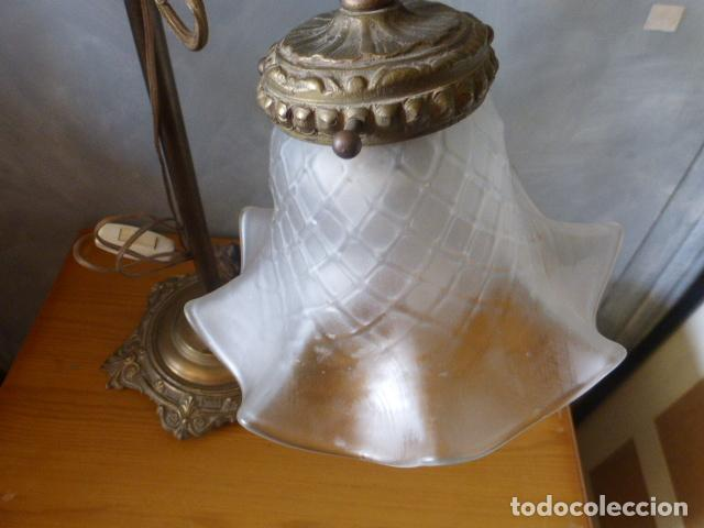 Antigüedades: ANTIGUA LAMPARA DE SOBRE MESA ART DECO. - Foto 2 - 140417454