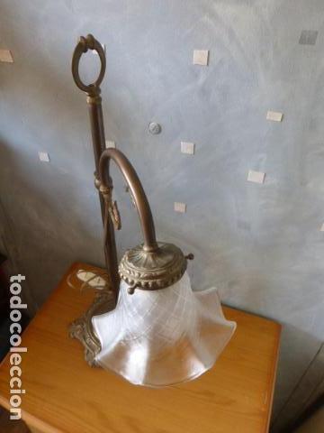 Antigüedades: ANTIGUA LAMPARA DE SOBRE MESA ART DECO. - Foto 5 - 140417454