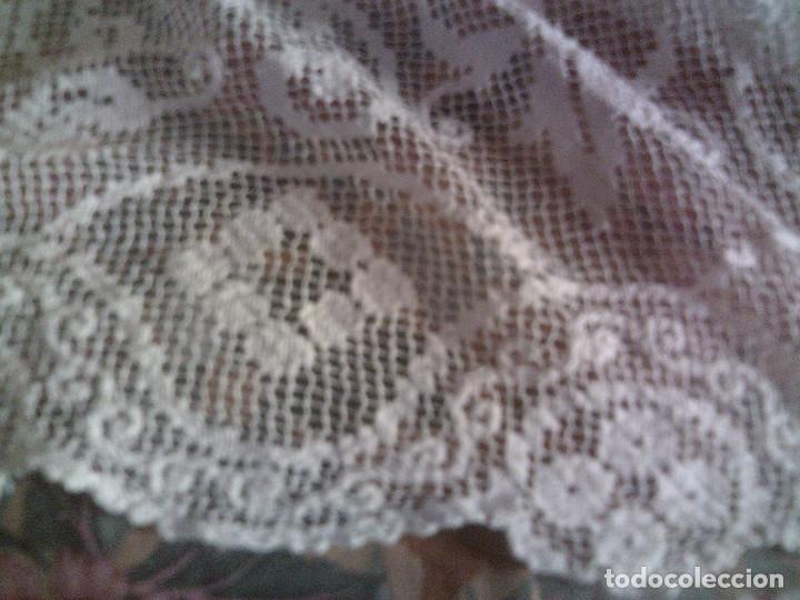 Antigüedades: ~~~~ ESPECTACULAR COLCHA DE NOVIA DE ENCAJE DE RED, MITAD S.XX, MIDE 2,60 X 2,20 CM, PERFECTA ~~~~ - Foto 6 - 140419682