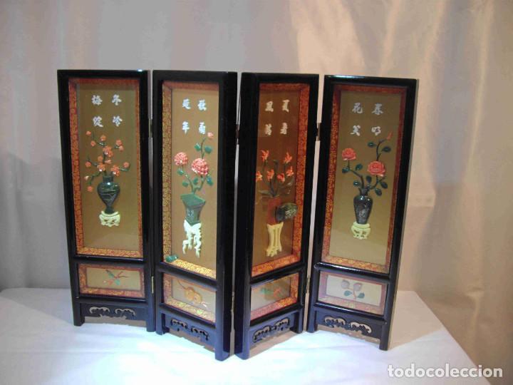 MINI BIOMBO JARRONES PIEDRA (Antigüedades - Hogar y Decoración - Otros)