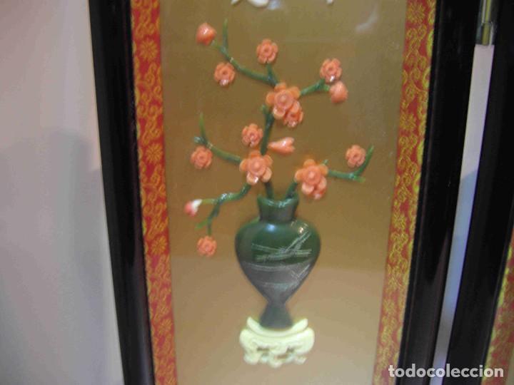 Antigüedades: MINI BIOMBO JARRONES PIEDRA - Foto 3 - 140424882