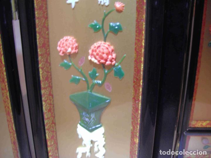 Antigüedades: MINI BIOMBO JARRONES PIEDRA - Foto 4 - 140424882