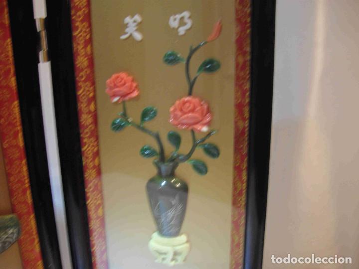 Antigüedades: MINI BIOMBO JARRONES PIEDRA - Foto 6 - 140424882