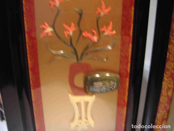 Antigüedades: MINI BIOMBO JARRONES PIEDRA - Foto 7 - 140424882