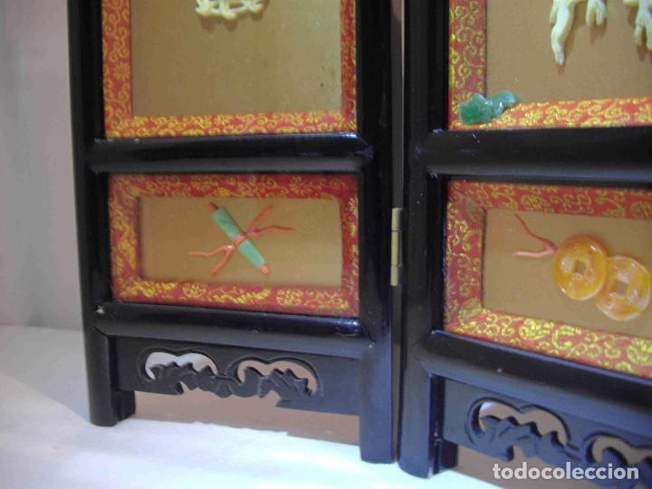 Antigüedades: MINI BIOMBO JARRONES PIEDRA - Foto 11 - 140424882