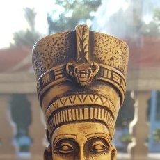 Antigüedades: BUSTO DE LA REINA-FARAONA NEFERTITI (ORIGINAL DE EGIPTO). Lote 140441078