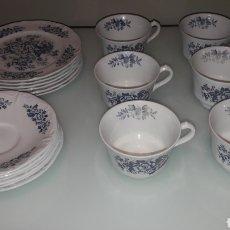 Antigüedades: BBB ANTIGUO JUEGO DE CAFE RIDGWAY FORMADO POR 6 TAZAS CON SUS 6 PLATOS Y 6 PLATOS MAS DE POSTRE. Lote 140430874