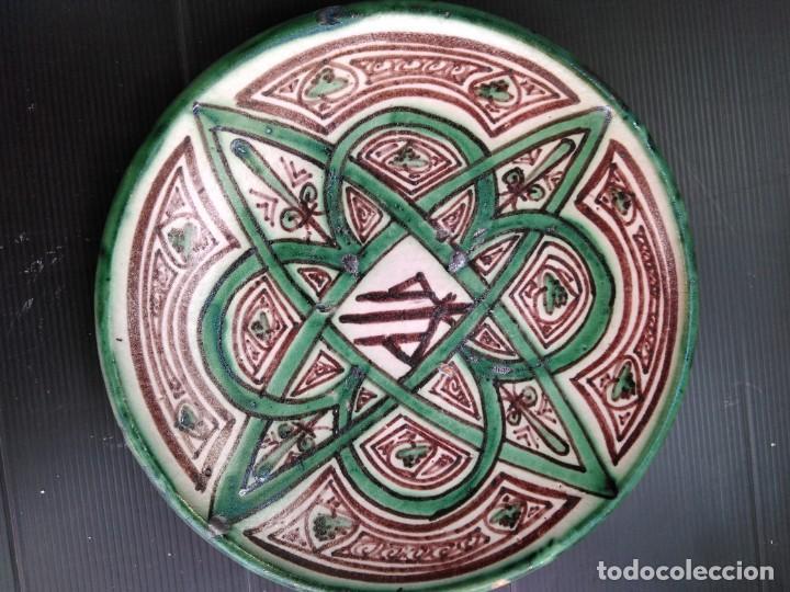 TERUEL, BONITO PLATO TUROLENSE (Antigüedades - Porcelanas y Cerámicas - Teruel)