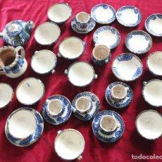 Antigüedades: JUEGO DE CAFE, BARRO COCIDO ESMALTADO, CATALANA, PRECIOSO!!!. Lote 140462190