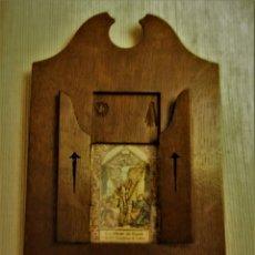 Antigüedades: CUADRO CAPILLA DEL SANTISIMO CRISTO DE COMO (ITALIA). Lote 140468298