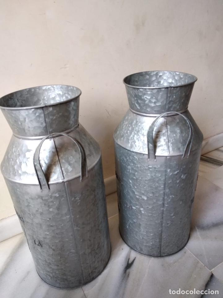 LOTE DE 2 LECHERAS ANTIGUAS (Antigüedades - Técnicas - Rústicas - Ganadería)