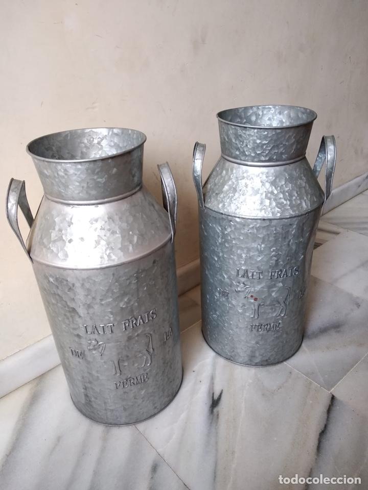 Antigüedades: Lote de 2 lecheras antiguas - Foto 2 - 140473954