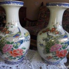 Antigüedades: 2 JARRONES DE PORCELANA JAPONESA SATSUMA. Lote 140492970