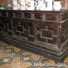 Antigüedades: ANTIGUA CAJA DE NOVIA, BAÚL, ARCÓN CATALÁN - S. XVIII. Lote 140493770