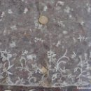 Antigüedades: ENCAJE ANTIGUO TUL BORDADO. Lote 140495194