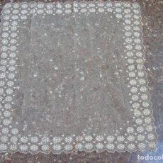 Antigüedades: ,MANTELETA INDUMENTARIA TUL BORDADO. Lote 140496938