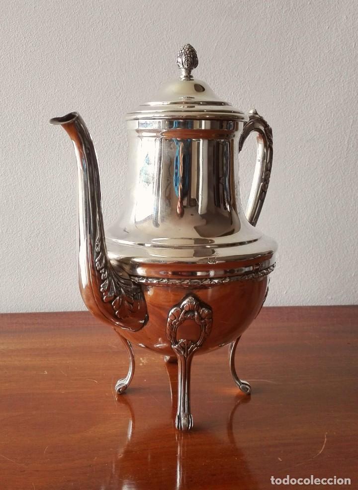 Antigüedades: Cafetera Francesa en Plata. Siglo XIX. 813 gramos. - Foto 2 - 140511554