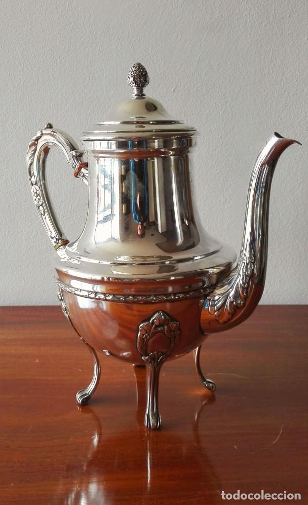 Antigüedades: Cafetera Francesa en Plata. Siglo XIX. 813 gramos. - Foto 4 - 140511554