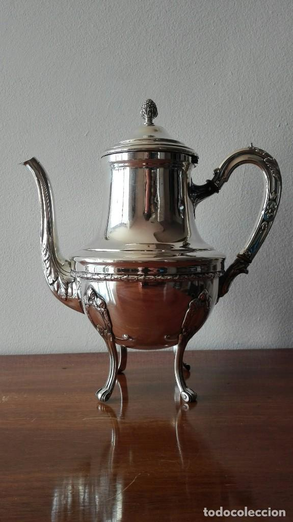 Antigüedades: Cafetera Francesa en Plata. Siglo XIX. 813 gramos. - Foto 5 - 140511554