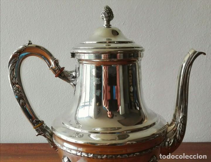 Antigüedades: Cafetera Francesa en Plata. Siglo XIX. 813 gramos. - Foto 8 - 140511554
