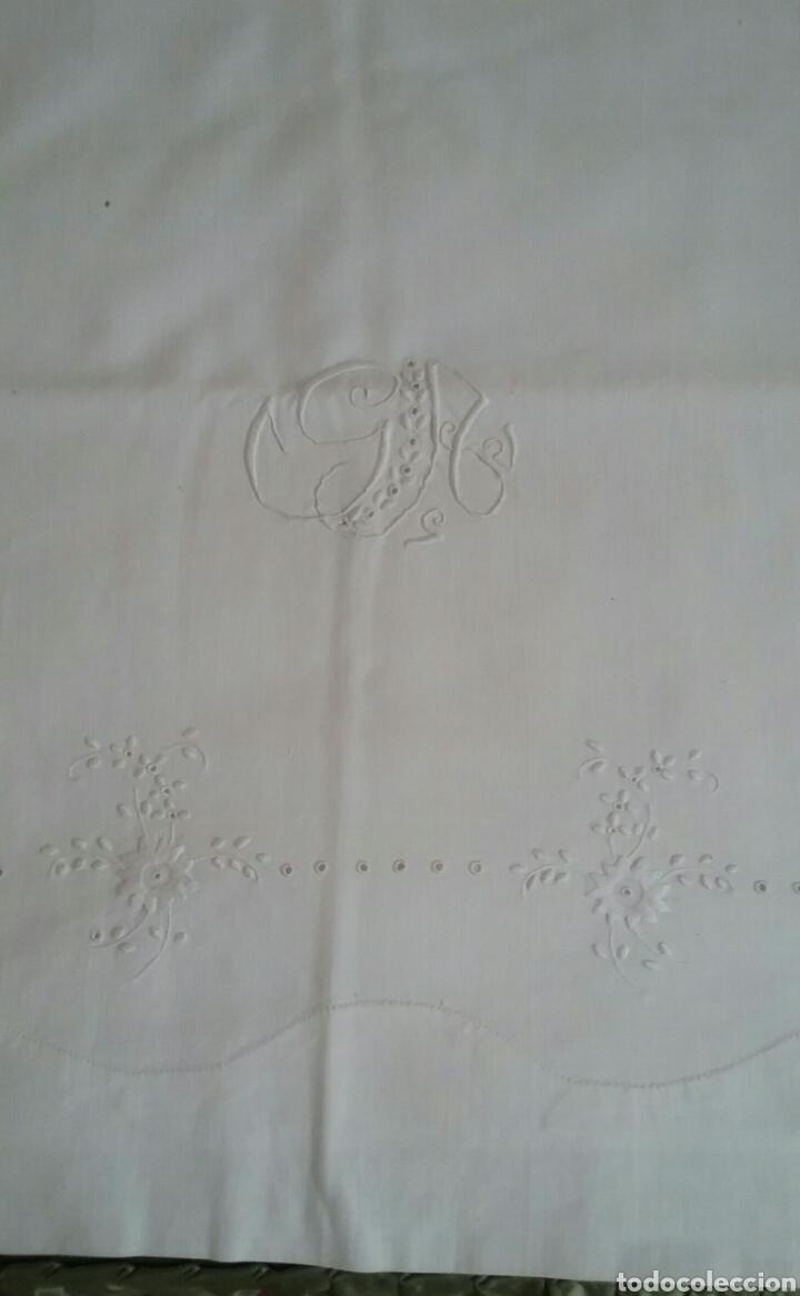 Antigüedades: ANTIGUO JUEGO DE CAMA.EN.ALGODÓN.BORDADO A MANO.NUEVO.AÑOS 70 - Foto 10 - 140518536