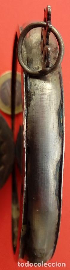 Antigüedades: RELICARIO DE PLATA SIGLO XVIII, CON ÓLEO BAJO CRISTAL DE INMACULADA Y SANTA FAZ. DIM.- 11.1X8,7 CMS - Foto 6 - 140530918
