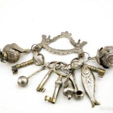 Antigüedades: PENCA DE BALANGANDAN SIGLO XIX. Lote 140542402