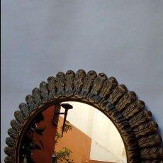 Antigüedades: ESPEJO SOL-ANTIGUO-MADERA-. Lote 140564474