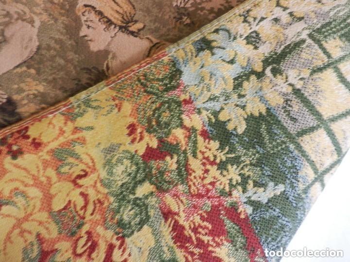 Antigüedades: T5 Gran tapiz de Jaquard Gobelino principios s XX escena bucólica 140x95 cm - Foto 4 - 140572786