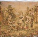 Antigüedades: T5 GRAN TAPIZ DE JAQUARD GOBELINO PRINCIPIOS S XX ESCENA BUCÓLICA 140X95 CM. Lote 140572786
