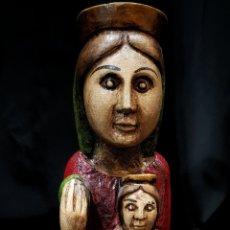 Antiquitäten - VIRGEN ROMANICA POLICROMADA - 114628527