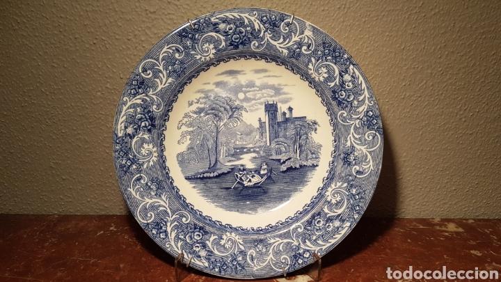 PLATO DE VISTAS INGLÉS WEDGWOOD & CO ENGLAND THAMES (Antigüedades - Porcelanas y Cerámicas - Inglesa, Bristol y Otros)